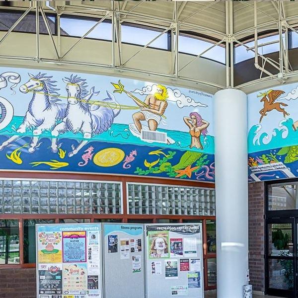 Great Neck Rec Center Final Mural